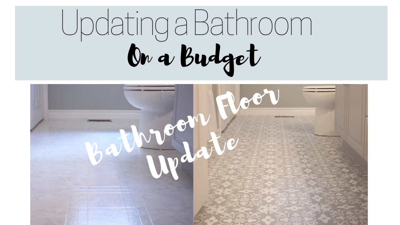 Makeover on a Budget: Stenciling My Bathroom Floor