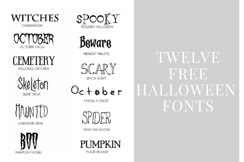 12 Free Halloween Fonts